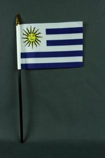 Kleine Tischflagge Uruguay 10x15 cm optional mit Tischfähnchenständer