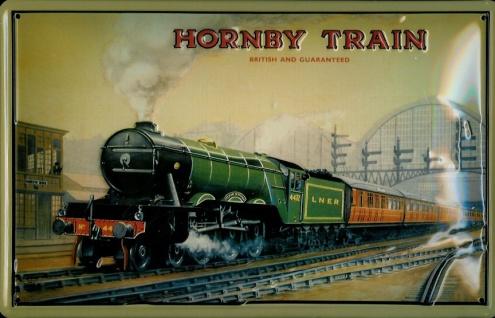 Blechschild Nostalgieschild Hornby Train LNER England Eisenbahn Dampflok