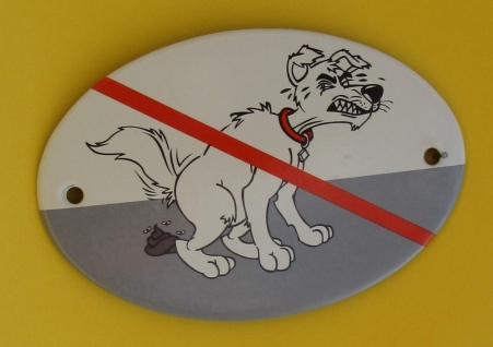 Schild Kackhund Hunde Hundekot Warnschild Hundetoilette Hundeklo