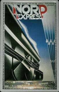 Blechschild Nostalgieschild Nord Express Paris Berlin Eisenbahn