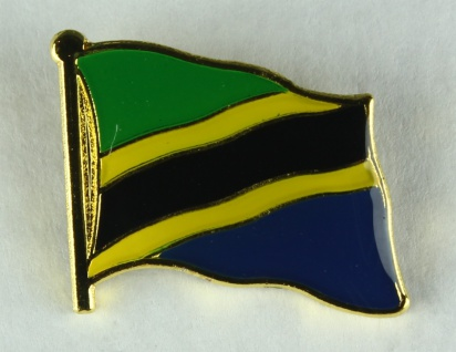 Tansania Pin Anstecker Flagge Fahne Nationalflagge