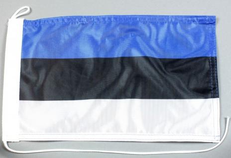 Bootsflagge : Estland 30x20 cm Motorradflagge