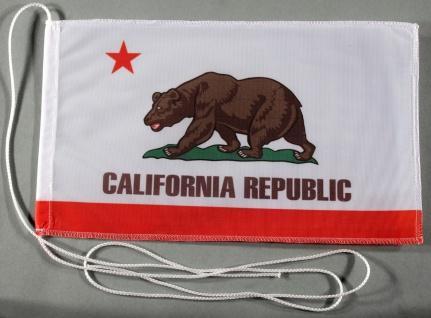 Tischflagge Kalifornien USA Bundesstaat US State 25x15 cm optional mit Holz- ...