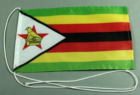 Tischflagge Simbabwe 25x15 cm optional mit Holz- oder Chromständer Tischfahne...