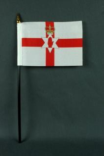 Kleine Tischflagge Nordirland 10x15 cm optional mit Tischfähnchenständer