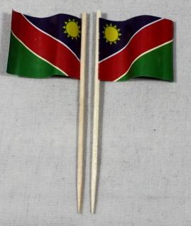 Party-Picker Flagge Namibia Papierfähnchen in Spitzenqualität 50 Stück Beutel