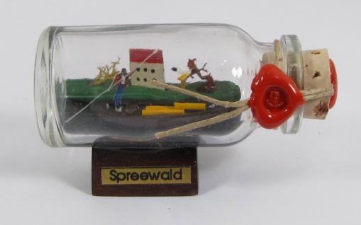 Spreewald Kahn Mini Buddelschiff 10 ml Flaschenschiff