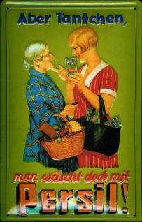 Blechschild Persil Tantchen Waschpulver Schild Retro Werbeschild