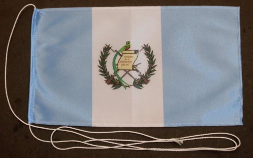 Tischflagge Guatemala 25x15 cm optional mit Holz- oder Chromständer Tischfahn...