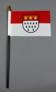 Kleine Tischflagge Köln 10x15 cm optional mit Tischfähnchenständer