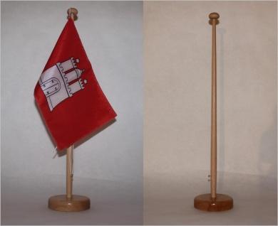 Tischflaggenständer 1-fach Holz Buche Profiqualität für 15x25cm Tischflaggen ...