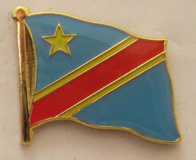 Kongo Kinshasa neu Pin Anstecker Flagge Fahne Nationalflagge
