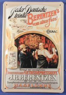 Blechschild Berentzen Korn Cognac Ersatz Schild Nostalgie Werbeschild - Vorschau