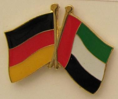 Vereinigte Arabische Emirate UAE / Deutschland Freundschafts Pin Anstecker Fl...