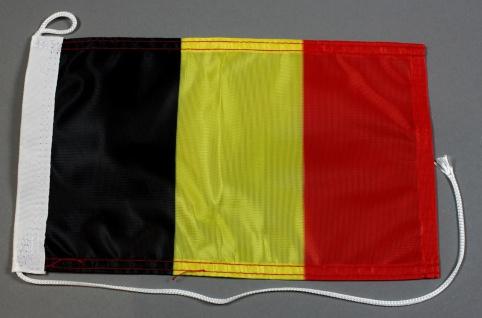 Bootsflagge : Belgien 30x20 cm Motorradflagge