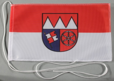 Tischflagge Unterfranken Franken 25x15 cm optional mit Holz- oder Chromstände...