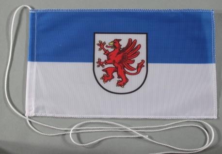 Tischflagge Vorpommern 25x15 cm optional mit Holz- oder Chromständer Tischfah...