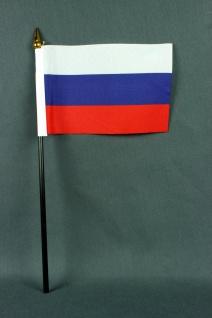 Kleine Tischflagge Rußland 10x15 cm optional mit Tischfähnchenständer
