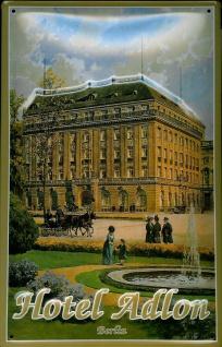 Blechschild Nostalgieschild Adlon Hotel Berlin DDR Ostalgie Schild Souvenir