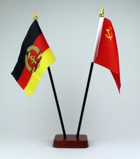 Kleine Tischflagge Sowjetunion UdSSR 10x15 cm optional mit Tischfähnchenständer - Vorschau 2