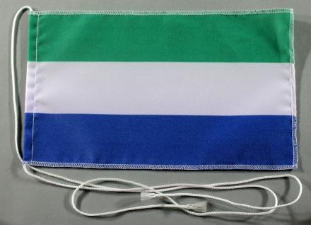 Tischflagge Sierra Leone 25x15 cm optional mit Holz- oder Chromständer Tischf...