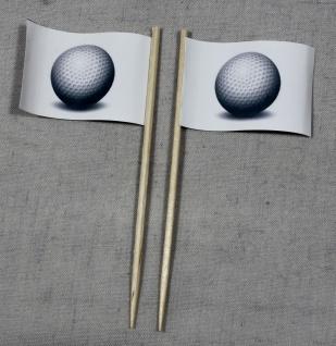 Party-Picker Flagge Golfball Golf Papierfähnchen in Spitzenqualität 50 Stück ...