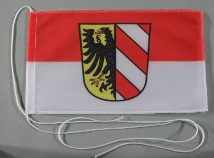 Tischflagge Nürnberg Stadtflagge 25x15 cm optional mit Holz- oder Chromstände...