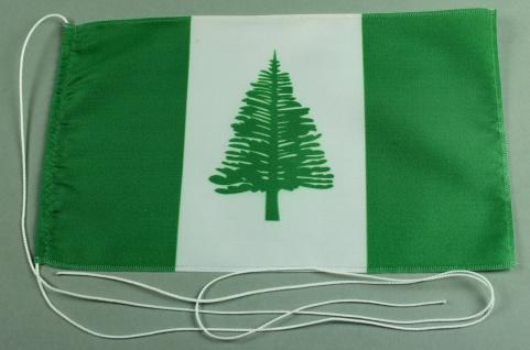 Tischflagge Norfolk Inseln 25x15 cm optional mit Holz- oder Chromständer Tisc...