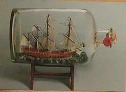 Buddelschiff - Postkarte bb03