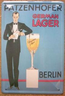 Blechschild Patzenhofer Berlin German Lager Bier Beer Schild Werbeschild