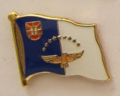 Pin Anstecker Flagge Fahne Azoren Flaggenpin Button Badge Flaggen Clip Anstec...