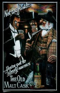 Blechschild The old Malt Cask Scotch Whisky Schild Werbeschild Nostalgieschild