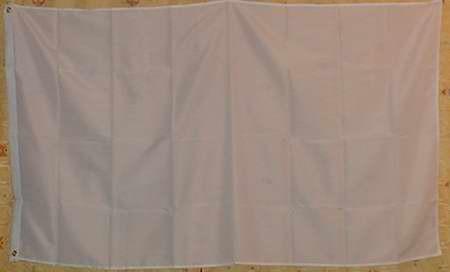 Weiße Flagge Großformat 250 x 150 cm wetterfest - Vorschau