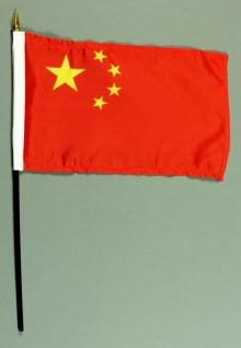 Tischflagge China 15x25 cm BASIC optional mit Tischflaggenständer