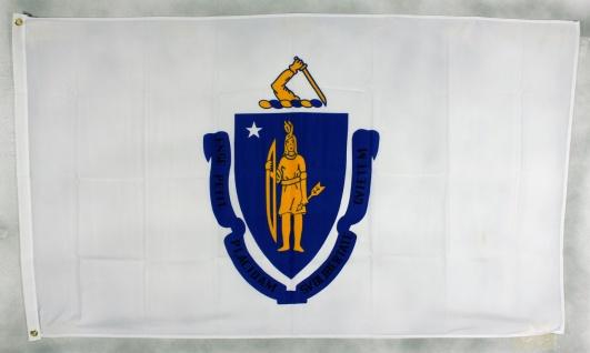 Flagge Fahne : Massachusetts