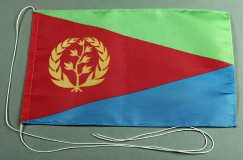 Tischflagge Eritrea 25x15 cm optional mit Holz- oder Chromständer Tischfahne ...