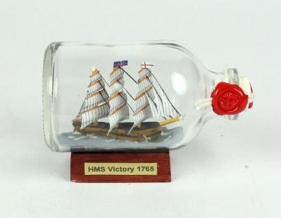 HMS Victory Lord Nelson Mini Buddelschiff 50 ml ca. 7, 2 x 4, 5 cm Flaschenschiff