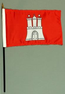 Tischflagge Hamburg 15x25 cm BASIC optional mit Tischflaggenständer