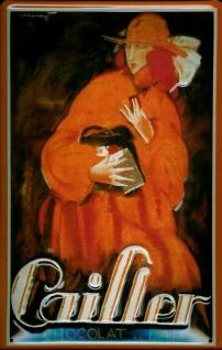 Blechschild Cailler Chocolat Schokolade Schild Werbeschild Nostalgieschild