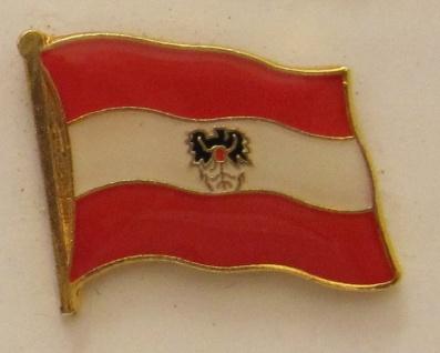 Pin Anstecker Flagge Fahne Österreich mit Adler Wappen