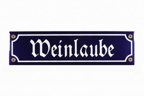 Strassenschild Weinlaube 30x8 cm Email Kneipenschild Strassen Schild Emaille