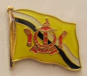 Brunei Pin Anstecker Flagge Fahne Nationalflagge