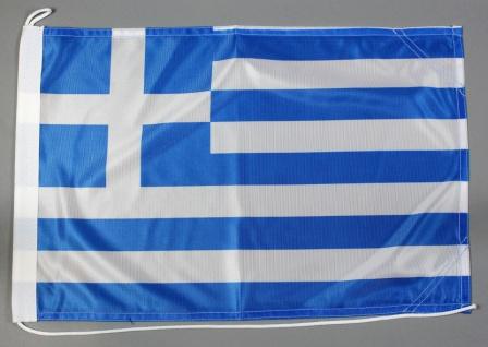 Bootsflagge Griechenland 30x45 cm Motorradflagge Bootsfahne