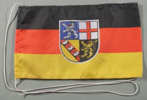 Tischflagge Saarland 25x15 cm optional mit Holz- oder Chromständer Tischfahne...