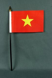 Kleine Tischflagge Vietnam 10x15 cm optional mit Tischfähnchenständer