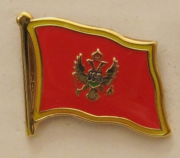 Pin Anstecker Flagge Fahne Montenegro