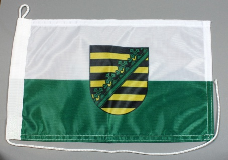 Bootsflagge : Sachsen 30x20 cm Motorradflagge
