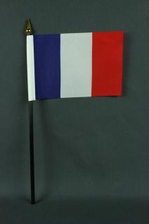 Kleine Tischflagge Frankreich 10x15 cm optional mit Tischfähnchenständer