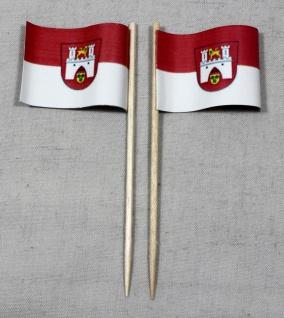 Party-Picker Flagge Hannover Papierfähnchen in Spitzenqualität 50 Stück Beutel