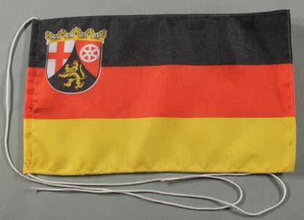 Tischflagge Rheinland Pfalz 25x15 cm optional mit Holz- oder Chromständer Tis...